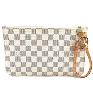 Louis Vuitton Azur Neverfull Pochette XL Wristlet